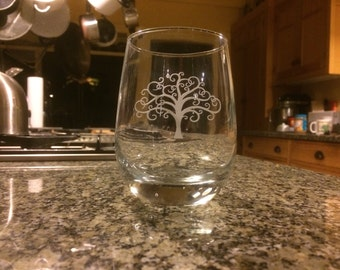 Stemless Etched Tree