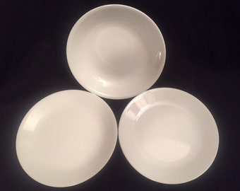 Corelle Winter Frost White 2 salad/dessert plates and one bowl