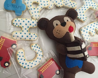 A Custom Birthday Buddy with A Baker's Dozen of Sugar Cookies