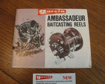 Vintage Abu Garcia Ambassadeur Reels Owners Manual and a Service Manual for the 5600C