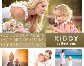 Kiddy Bundles | Lightroom preset | Photoshop Actions | Overlay Textures Total 120 items - CPZ105