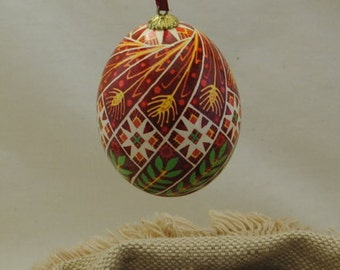 Ukrainian Egg: Wheat and Olive Branches