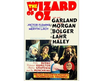 Wizard of Oz (#1) - Digitally Restored & Retouched Poster from the Movie