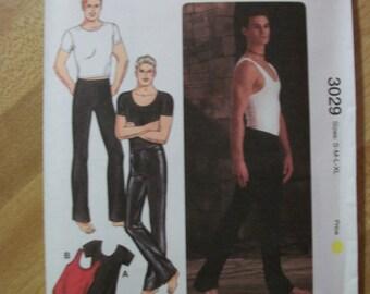 Kwik Sew 3029 Men's (Size S, M, L, XL) dance wear