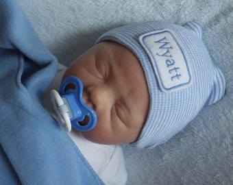 Newborn Hospital Hat. Newborn Hospital Beanie. Personalized Newborn Hat. Newborn Boy Coming Home