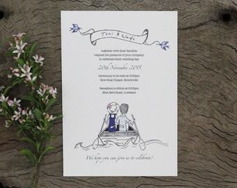 Love Boat Wedding Invitation