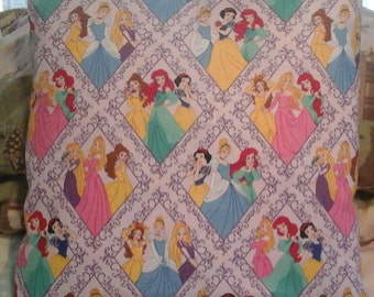 Hand-made Disney's Princess throw pillow