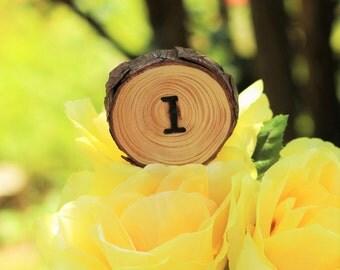 Table Number wood slice, number 1, number 2, number 3, table centerpiece, table centerpiece number, rustic wedding