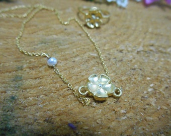 Dainty Flower Spring Necklace