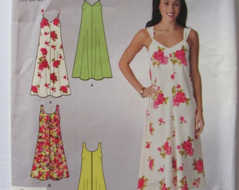 Simplicity 2649, Flirty  Summer Sun Dress, Plus Sizes Included 8 to 18, Uncut, 2 Lengths of Sun Dress, Sewing Pattern