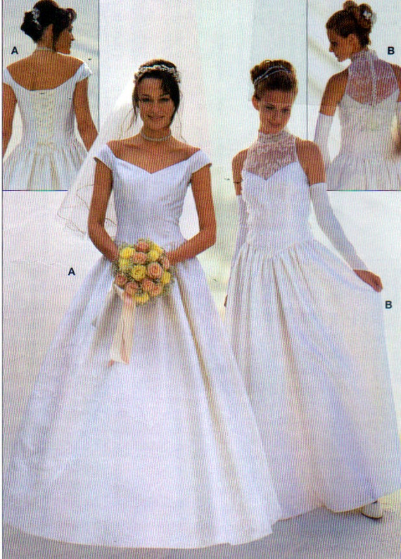 Bridal gown sewing pattern close fitting by onceuponanheirloom for Wedding dress patterns plus size