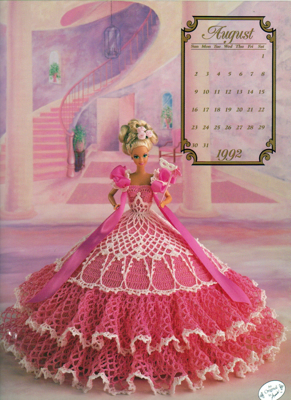 August 1992 Annies Attic The Cotillion Collection Calendar