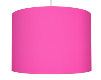 Hot Pink Linen Fabric Drum Lampshade, Small Lampshade 20cm - Large Lampshade 40cm or Custom Order