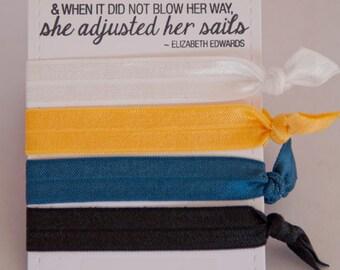 Set of four elastic hair ties - James Wood High School