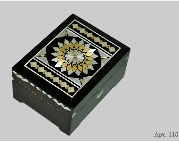 Jewelry box. Casket from Russia. Original gift. #С 1151-11. #71
