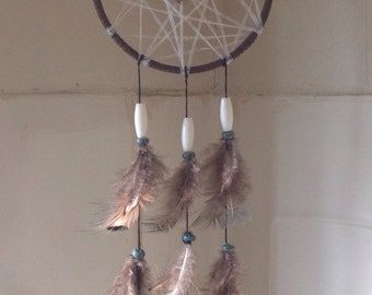 Handmade abalone dream catcher