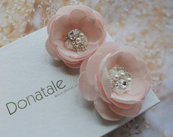 Bridal headpiece- Bridal hair clip -Wedding hair pins -Wedding Hair piece-  Wedding Hair Flower-Bridal hair flower- Bridal hair piece-EDITH
