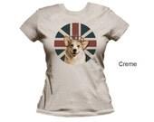 Corgi women's t-shirt,  dog t-shirt,  animal t-shirt, cotton t-shirt, fitted t-shirt, form fitting shirt, women's shirt, jersey tee