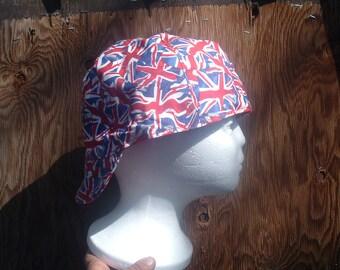 Union Jack Flag Welding Cap Reversable Prewashed