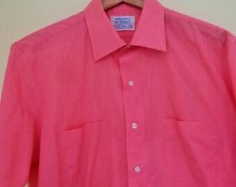 Vintage, Arrow Shirt, Surrey Collection Short Sleeve, Oxford, Deep Pink