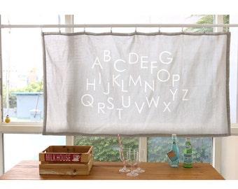 "kddm Double 100% Cotton Gauze Fabric Baby clothing Gauze Printed Muslin_Alphabet_white_59"" Grey_Sam148055"