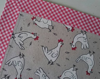 Set of 2 placemats, 35 x 45 cm
