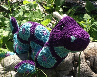 Ogie Jr. the African Flower Ogopogo Crochet Digital Pattern