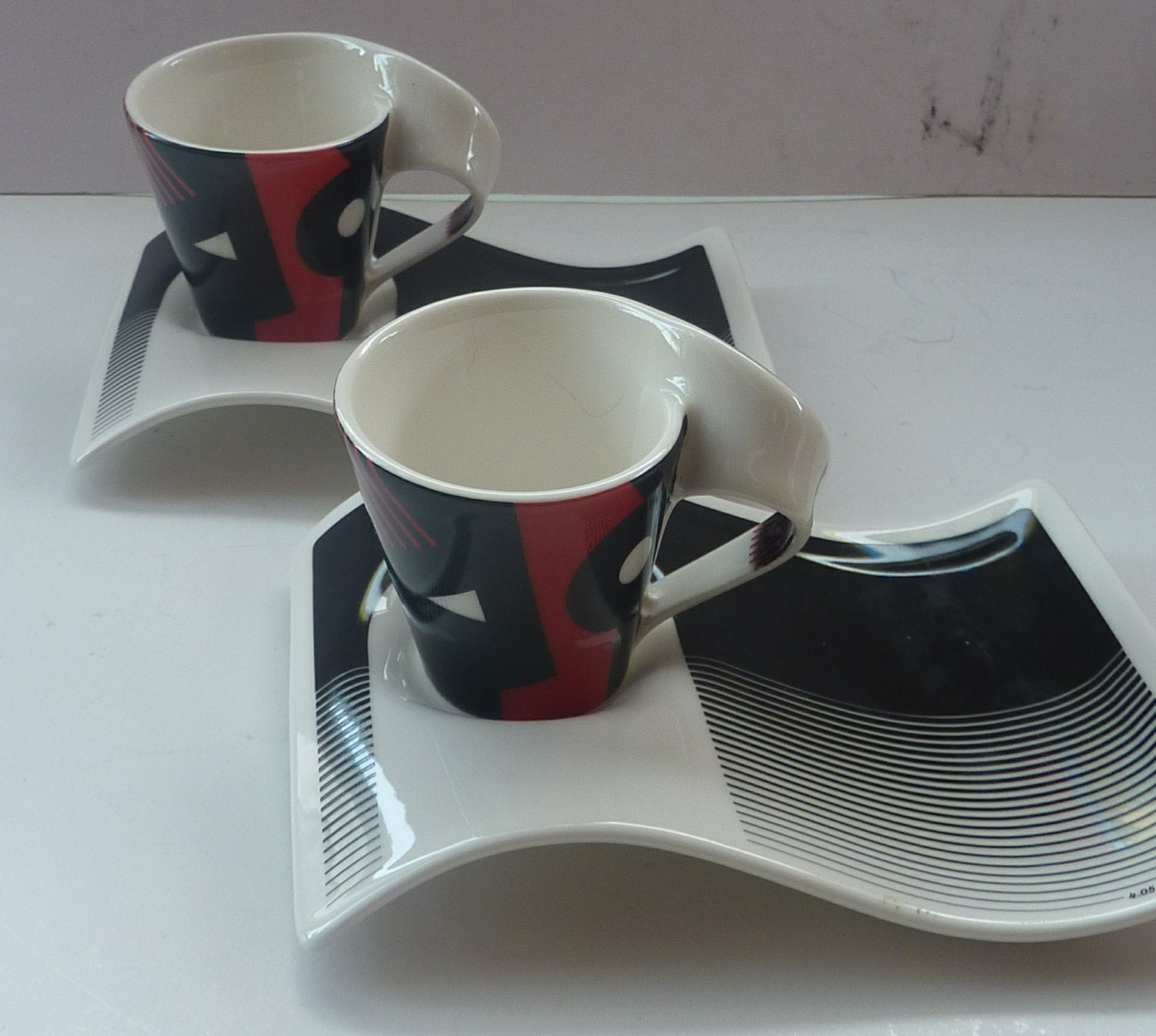 Villeroy and boch cup and saucer new wave shape for Villeroy boch wave