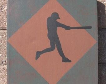 Baseball Batter Canvas