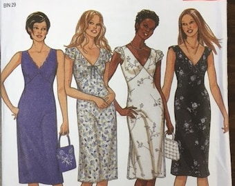 Vintage Lingerie Dress Pattern // New Look 6064, 6 Sizes in One: 6-16
