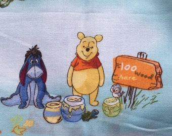 Novelty Pooh Bear Fabric // 5 pieces > Hundred Acre Wood, Piglet, Roo, Eeyore, Tigger