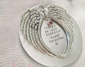 Memorial christmas ornament- custom memory keepsake - in loving memory of - custom ornament