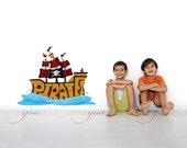 Pirate Ship Wall Decal, Kids Wall Decal, Nursery Wall Decal, Playroom Wall Decal - 05-0005