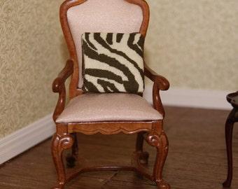 Dollhouse Miniature Zebra Pillow