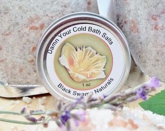 D*mn Your Cold Bath Salts, Sinus Relief Bath Salts, Cold Bath Salts, Pink Himalayan Bath Salts, French Gray Sea Salt, Aromatherapy Bath Salt