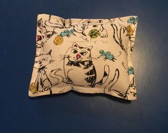 Kitty cat catnip pillow toy