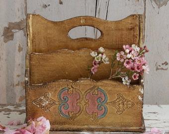 Florentine Desk Caddy / Letter Holder