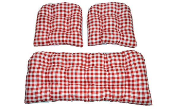 Indoor Cotton Red And White Plaid Country Checkered