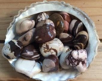 Brown Zebra Jasper Tumbled Stones, Healing Stones, Healing Crystal,Chakra Stones, Spiritual Stone, Small Stone