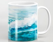Ipswich Ocean Mug (Original Watercolor Pattern-11oz or 15oz)