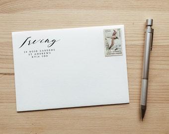 Personalised Custom Calligraphy Return Address Stamp