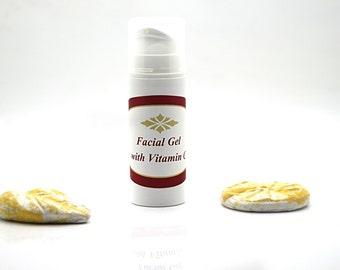Facial gel with vitamin C