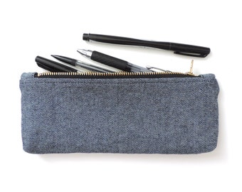 Denim Pencil Case Zipper Pencil Pouch