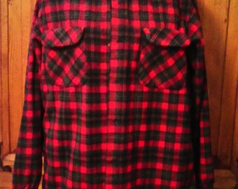 Vtg. 90s Pendleton Wool Plaid Button Down Shirt No Size Please Fit By Measurements Listed