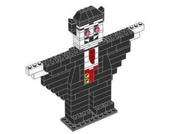Large Vampire Model Lego Parts & Instructions Kit - Halloween