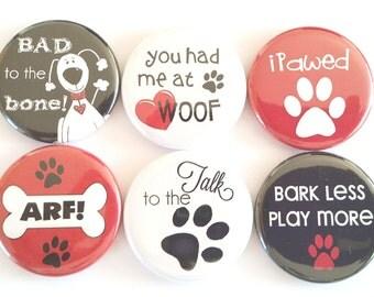 Dog Lovers Magnets, Refrigerator Magnets, Dog Magnets, Fridge Magnets, Funny Dog Magnets, Humorous Magnets, Dog Lovers Magnets, Set of 6
