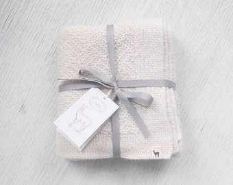 Baby blanket wool blanket baby alpaca blanket baby shower gift white gray brown newborn blanket knit baby blanket knitted blanket wool