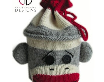 Sock Monkey Project Bag Knitting Pattern
