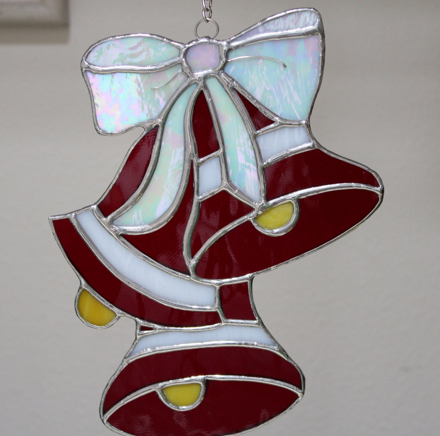 Stained Glass Bells with BowChristmas by Stainedglasslove ...