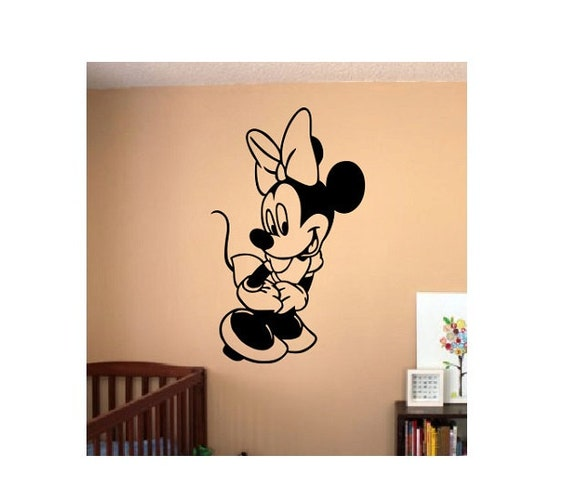 minnie mouse wall decal sticker mickey mouse minnie mouse. Black Bedroom Furniture Sets. Home Design Ideas